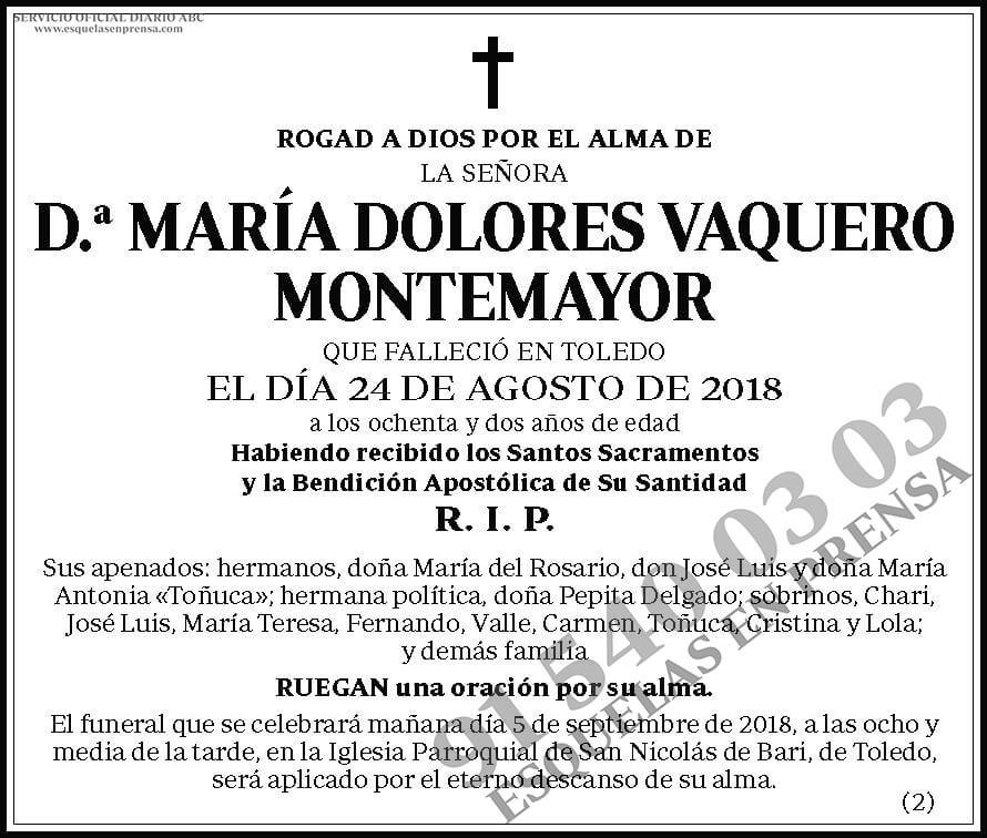 María Dolores Vaquero Montemayor